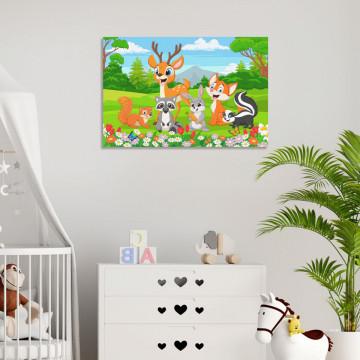 Tablou Canvas, Animalute din padure
