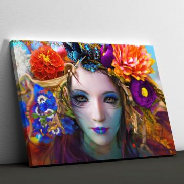 Tablou Canvas, Fata Florilor