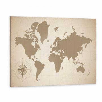 Tablou Canvas, Harta Lumii