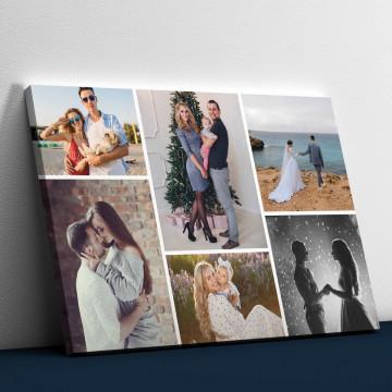 Tablou Canvas personalizat cu 6 poze