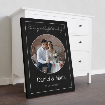 """Tablou Canvas personalizat """"Harta Stelelor"""" - You are my most beautiful star in the sky"""