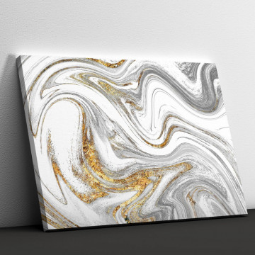 Tablou Canvas, Silver and gold