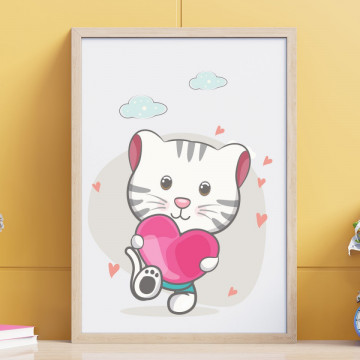 Tablou - Psicuta cu inimioara