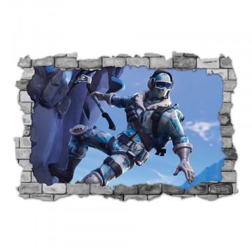 3D Sticker perete 60x90cm - Fortnite 3