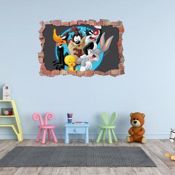 3D Sticker perete 60x90cm - Looney Tunes