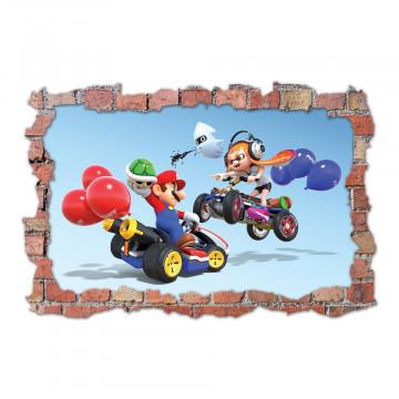 3D Sticker perete 60x90cm - Mario Kart