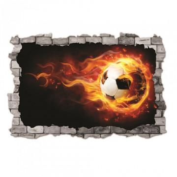 3D Sticker perete 60x90cm - Minge foc