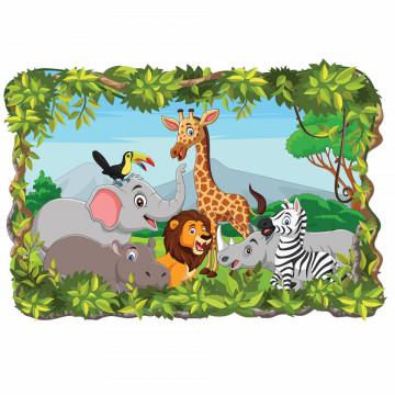 3D Sticker perete - Animale salbatice43
