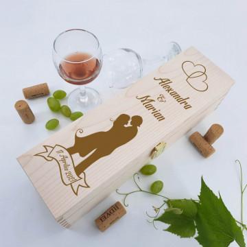 Cutie vin personalizata - Cuplu