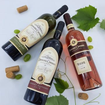 Cutie vin personalizata - Mesaj, nume si data