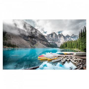Fototapet autoadeziv - Barcute pe Lac