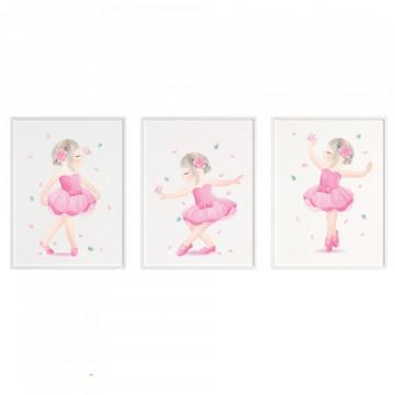 Set 3 tablouri - Balerine
