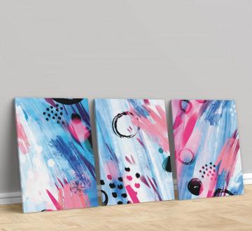 Set 3 Tablouri Canvas, Colourful