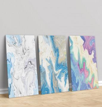 Set 3 Tablouri Canvas, Painting colours