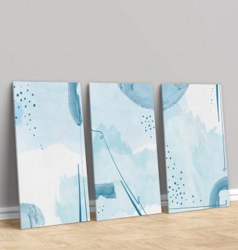 Set 3 Tablouri Canvas, Painting the sky