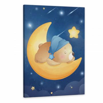 Set 3 Tablouri Canvas, Ursuletul prinde stele