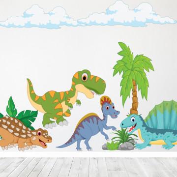 Set stickere decorative perete copii -Epoca Dinozaurilor2 , 60x90cm