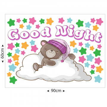 Set stickere decorative perete copii - Good night