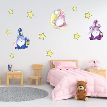 Set stickere decorative perete copii - Vrajitorul , 60x60cm