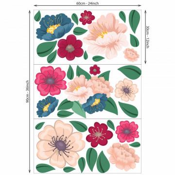 Set stickere decorative perete - Flori 6, 60x90cm