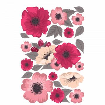 Set stickere decorative perete - Flori , 60x90cm