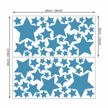 Set stickere decorative perete - Stelute 10, 60x60cm