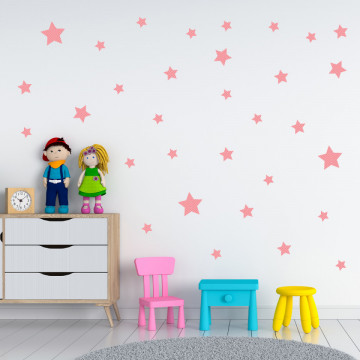 Set stickere decorative perete - Stelute 15, 60x60cm