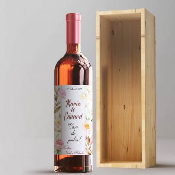 Sticla vin Personalizata - Data, nume si doua texte