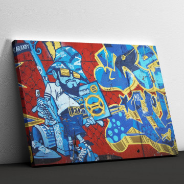 Tablou Canvas, Graffiti on the wall
