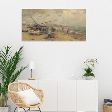 Tablou Canvas, La pescuit
