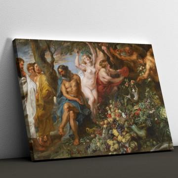 Tablou Canvas, Pitagora pledează pentru vegetarianism de Peter Paul Rubens