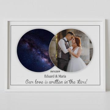 Tablou personalizat Harta Stelelor - Our love is written in the stars