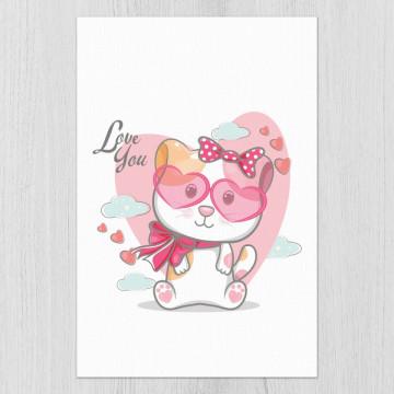 Tablou - Pisica - Love you