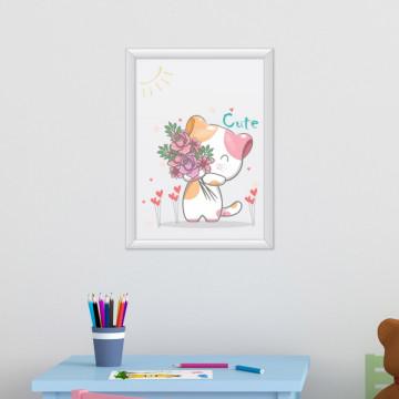 Tablou - Pisicuta cu flori