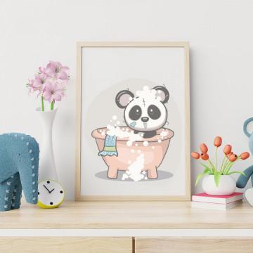 Tablou - Ursuletul panda cu bule