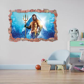 3D Sticker perete 60x90cm - Aquaman