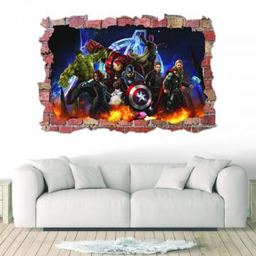 3D Sticker perete 60x90cm - Avengers 1