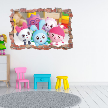 3D Sticker perete 60x90cm - Baby Riki