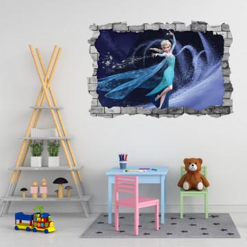 3D Sticker perete 60x90cm - Frozen 3