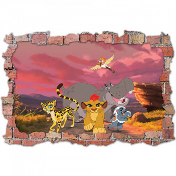 3D Sticker perete 60x90cm - Garda Felina