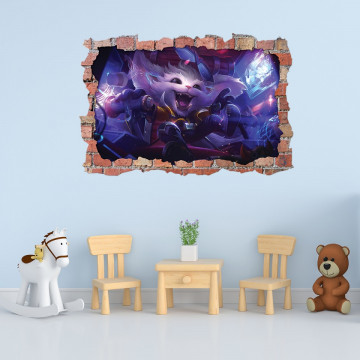 3D Sticker perete 60x90cm - Gnar League of Legends