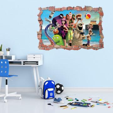 3D Sticker perete 60x90cm - Hotel Transilvania