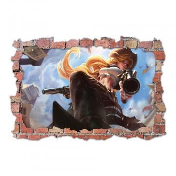 3D Sticker perete 60x90cm - League of Legends 2