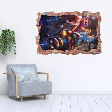 3D Sticker perete 60x90cm - League of Legends3