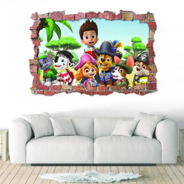 3D Sticker perete 60x90cm - Pawpatrol