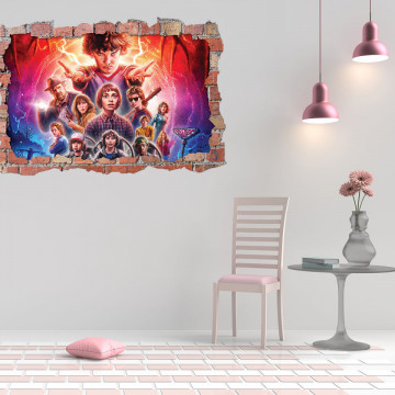 3D Sticker perete 60x90cm - Stanger Things