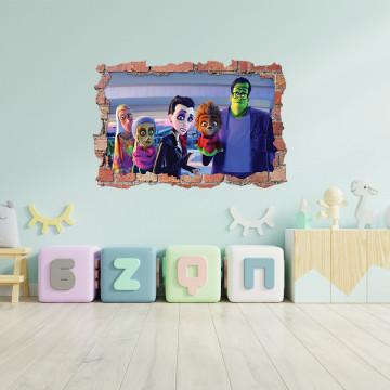 3D Sticker perete 60x90cm -Taramul monstrilor