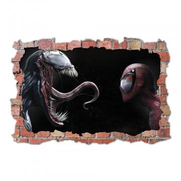3D Sticker perete 60x90cm - Venom x spiderman