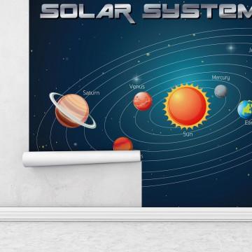 Fototapet autoadeziv copii - Sistemul Solar