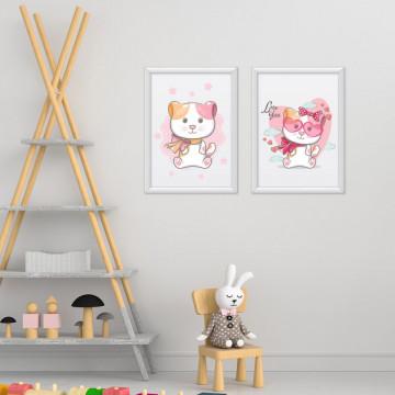 Set 2 tablouri - Pisicutele love you